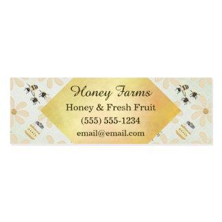 Abeja y flor de la miel tarjetas de visita mini