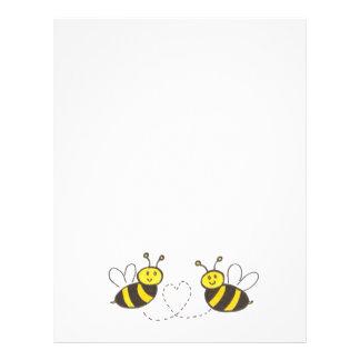 Abejas de la miel con el aviador del corazón folleto 21,6 x 28 cm