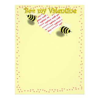 """Abejas de la miel del dibujo animado """"abeja marco  flyer personalizado"""