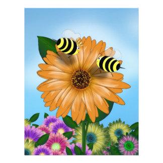 Abejas de la miel del dibujo animado que se encuen tarjetas publicitarias