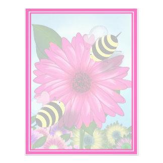 Abejas de la miel del dibujo animado que se folleto 21,6 x 28 cm