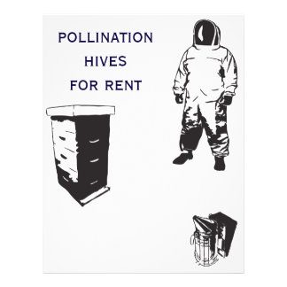 abejas de la polinización folleto 21,6 x 28 cm