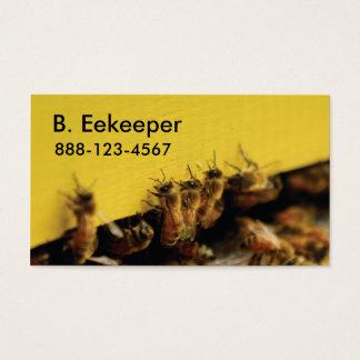 abejas en colmena amarilla tarjeta de visita