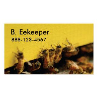 abejas en colmena amarilla tarjetas personales