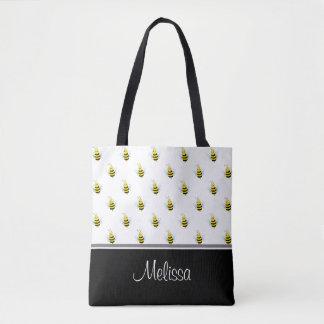 Abejas lindas el | personalizado bolsa de tela