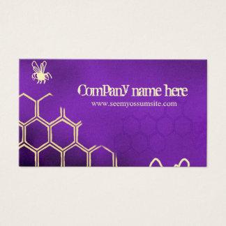 Abejas púrpuras tarjeta de negocios