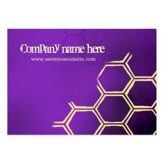 Abejas púrpuras tarjeta de negocio