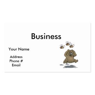 abejas que persiguen el oso tarjetas de visita