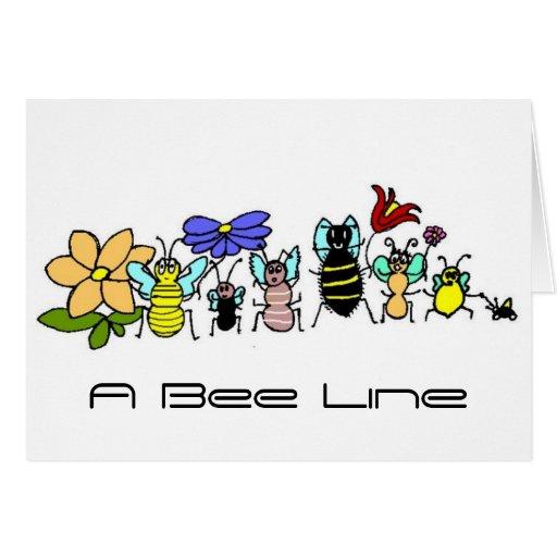 abejas, una línea de la abeja felicitaciones