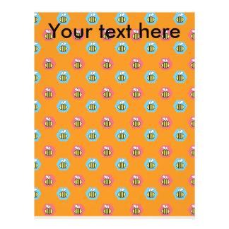 Abejorros en fondo anaranjado folleto 21,6 x 28 cm