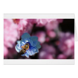 Abejorros y flores tarjeta de felicitación
