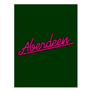 Aberdeen en magenta postal