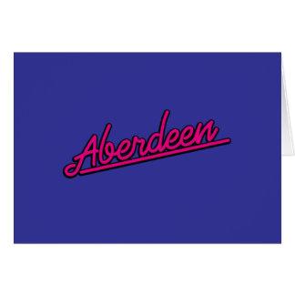 Aberdeen en magenta felicitación