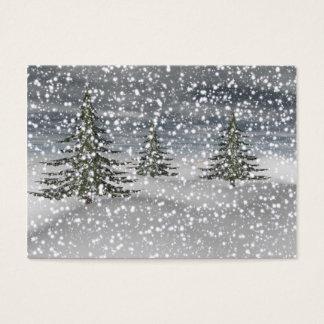 abeto y nieve tarjeta de negocios
