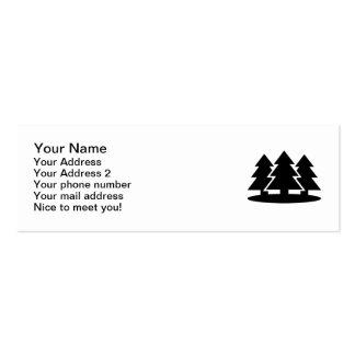 Abetos negros tarjetas de visita mini