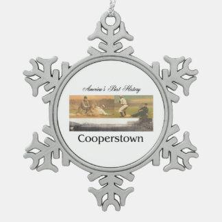 ABH Cooperstown Adorno De Peltre En Forma De Copo De Nieve