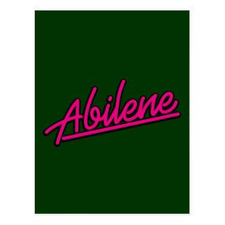 Abilene en magenta tarjetas postales