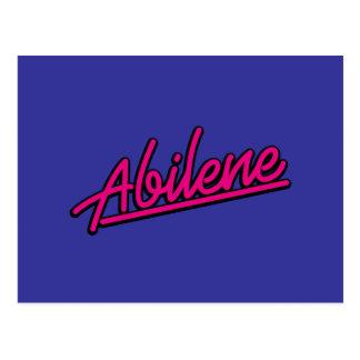 Abilene en magenta postal
