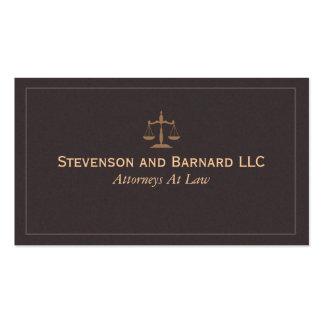 Abogado clásico, tarjeta de visita del abogado