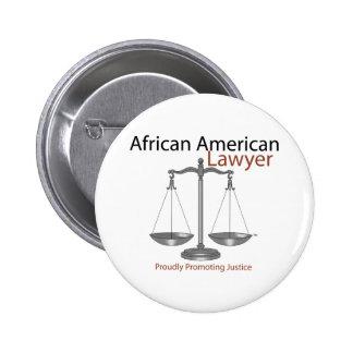 Abogado de América del africano Pins