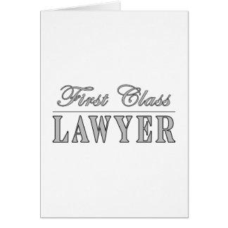 Abogado de la primera clase de los abogados tarjeton