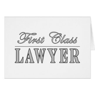 Abogado de la primera clase de los abogados tarjetas