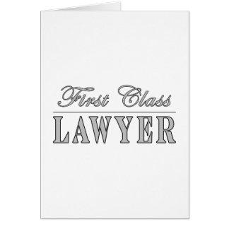Abogado de la primera clase de los abogados felicitaciones