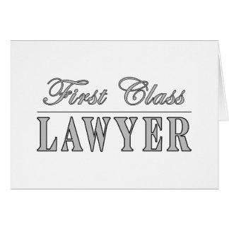 Abogado de la primera clase de los abogados tarjeta pequeña