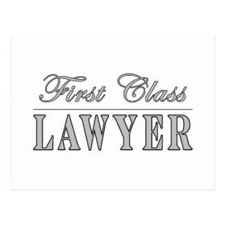 Abogado de la primera clase de los abogados tarjeta postal
