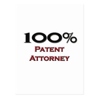 Abogado de patentes del 100 por ciento tarjetas postales