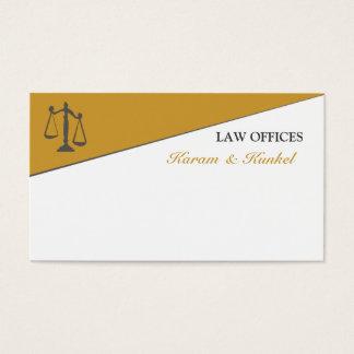 Abogado dividido masculino del abogado de la tarjeta de visita