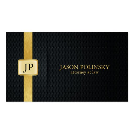Black and Gold Attorney Business Cards