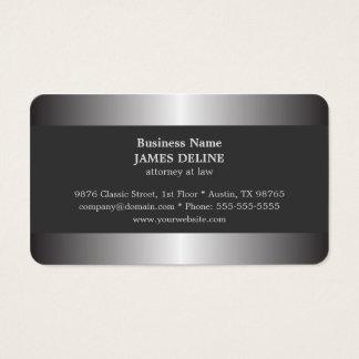 Abogado elegante profesional del metal plateado tarjeta de negocios