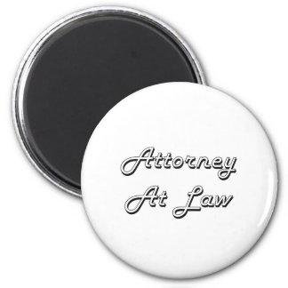 Abogado en el sistema de trabajo clásico de la ley imán redondo 5 cm