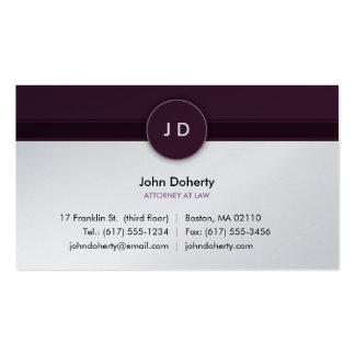 Abogado en la ley - tarjeta del monograma de visit tarjetas personales