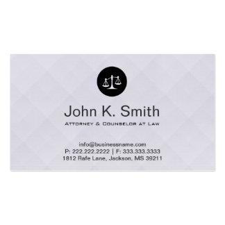 Abogado en la plata elegante moderna del monograma tarjetas de visita