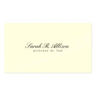 Abogado minimalista elegante color nata plantillas de tarjetas de visita