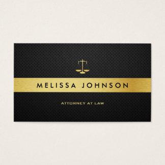 Abogado moderno elegante profesional del negro y tarjeta de negocios