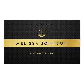 Abogado moderno elegante profesional del negro y tarjetas de visita
