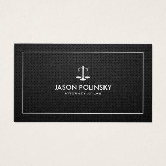 Abogado negro y de plata profesional y moderno tarjeta de negocios