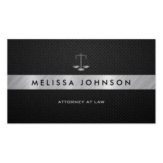 Abogado negro y de plata profesional y moderno plantilla de tarjeta de visita