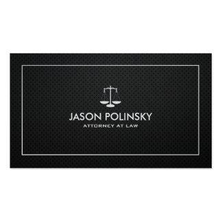 Abogado negro y de plata profesional y moderno tarjetas de visita