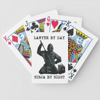 Abogado por el día, Ninja por noche Baraja De Cartas