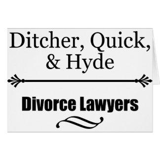 Abogados de divorcio tarjeta de felicitación