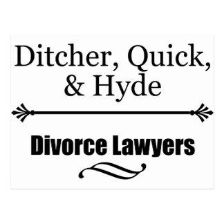 Abogados de divorcio tarjetas postales