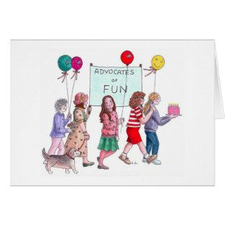 Abogados del cumpleaños de la diversión tarjeton