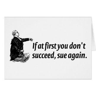 Abogados - si al principio usted no tenga éxito, tarjeta