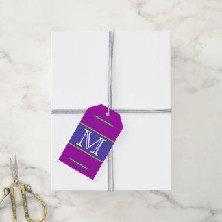 ABOTONE ALREDEDOR del amarillo violeta de las Etiquetas Para Regalos