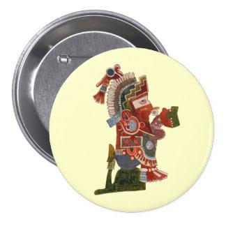 ¡Abotone el maya divertido indio con la cerveza! Chapa Redonda De 7 Cm