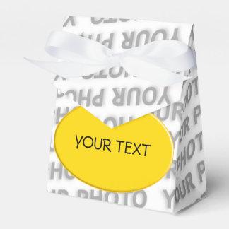 Abotone la plantilla para su propia foto, imagen, cajas para regalos de fiestas